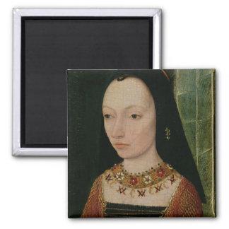 Margaret of York  Duchess of Burgundy, c.1477 Square Magnet