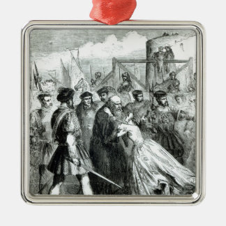 Margaret Roper  Taking Leave of her Father Silver-Colored Square Decoration