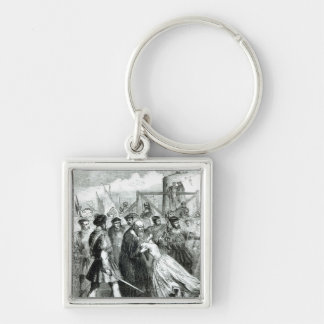 Margaret Roper  Taking Leave of her Father Silver-Colored Square Key Ring