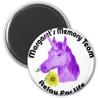 Margaret s Memory Team Logo--Relay For Life Fridge Magnet