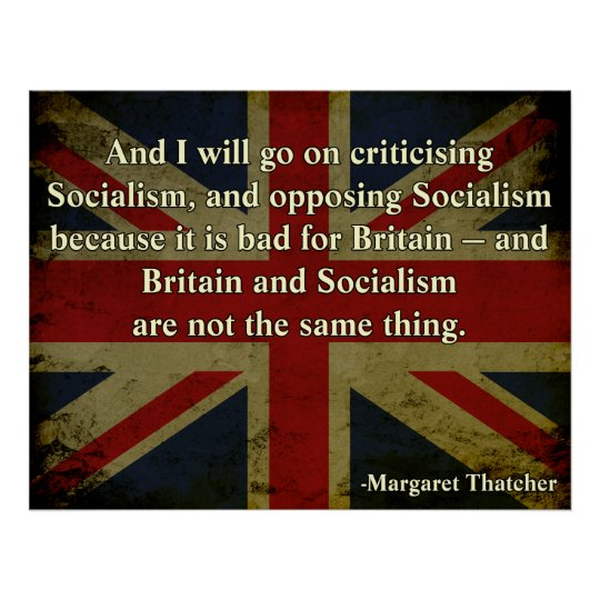 Margaret Thatcher Anti-Socialism Poster