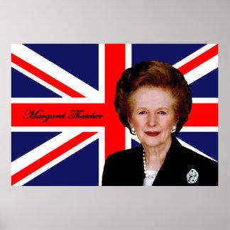 Margaret Thatcher - British Flag Poster