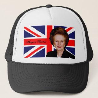 Margaret Thatcher - British Flag Trucker Hat