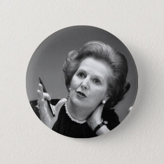 Margaret Thatcher Button Badge