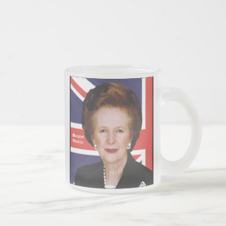 Margaret Thatcher Frosted Glass Coffee Mug