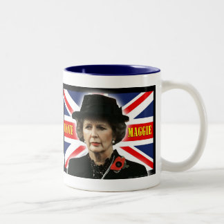 Margaret Thatcher I Love Maggie Two-Tone Coffee Mug