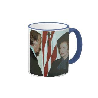 Margaret Thatcher & Jimmy Carter Ringer Mug