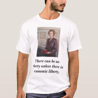 Margaret Thatcher on Liberty T-Shirt