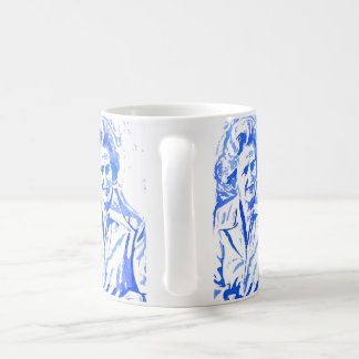 Margaret Thatcher Pop Art Portrait Basic White Mug