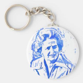 Margaret Thatcher Pop Art Portrait Key Ring
