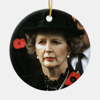 Margaret Thatcher Prime Minister Christmas Ornament