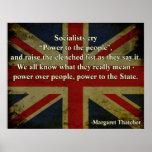 Margaret Thatcher Quote Poster
