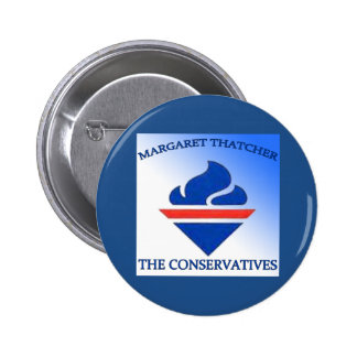 Margaret Thatcher The Conservatives 6 Cm Round Badge