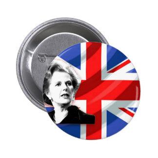 Margaret Thatcher Union Jack 6 Cm Round Badge