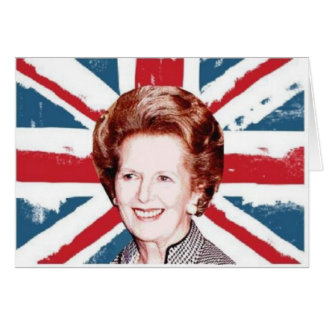 MARGARET THATCHER UNION JACK CARD