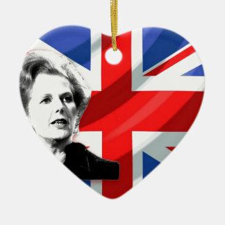 Margaret Thatcher Union Jack Christmas Ornament