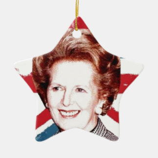 MARGARET THATCHER UNION JACK CHRISTMAS ORNAMENT