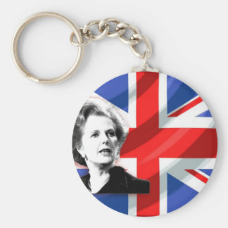 Margaret Thatcher Union Jack Key Ring