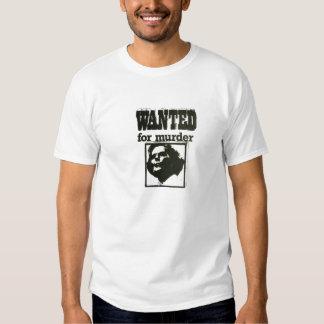 Margaret Thatcher - Wanted for Murder Tshirts
