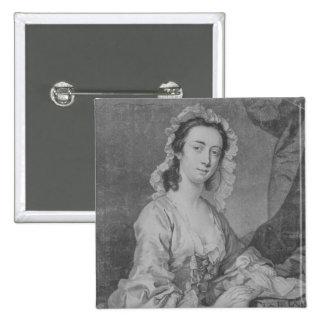 Margaret Woffington, engraved by John Faber Jr 15 Cm Square Badge
