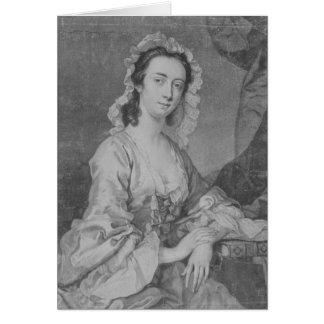 Margaret Woffington, engraved by John Faber Jr Card