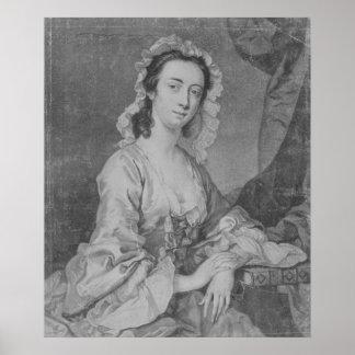 Margaret Woffington, engraved by John Faber Jr Poster
