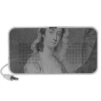Margaret Woffington, engraved by John Faber Jr Portable Speakers