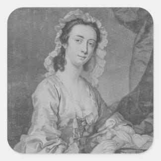 Margaret Woffington, engraved by John Faber Jr Square Sticker