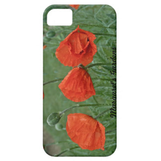 Margaret's Gardens Poppy Barely There iPhone Cases iPhone 5 Covers