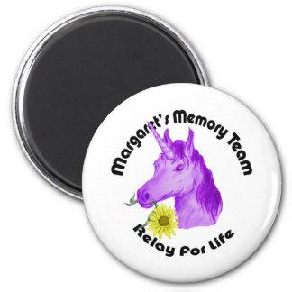 Margaret's Memory Team Logo--Relay For Life 6 Cm Round Magnet