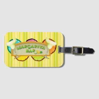 Margarita bar luggage tag