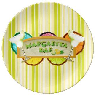 Margarita bar porcelain plates