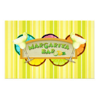 Margarita bar stationery