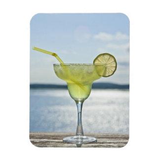 Margarita by the sea rectangular photo magnet