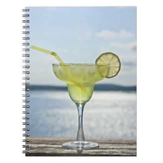 Margarita by the sea spiral notebook