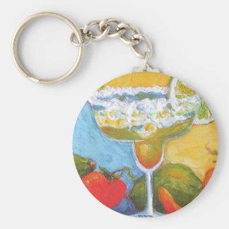 Margarita & Chile Pepper Basic Round Button Key Ring