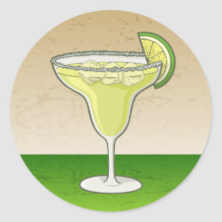 Margarita Classic Round Sticker