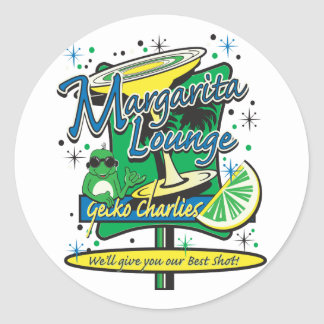 Margarita-Cocktail-Lounge Classic Round Sticker