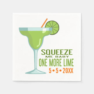 Margarita Cocktail   Squeeze Me Baby One More Lime Paper Napkin