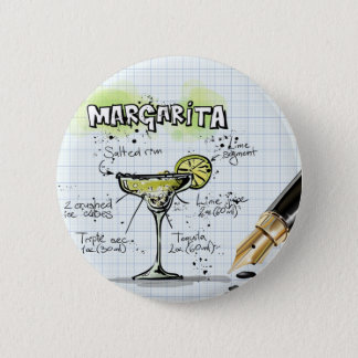 Margarita Drink- Cocktail Gift 6 Cm Round Badge