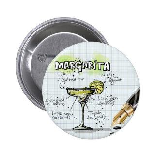Margarita Drink- Cocktail Gift 6 Cm Round Badge
