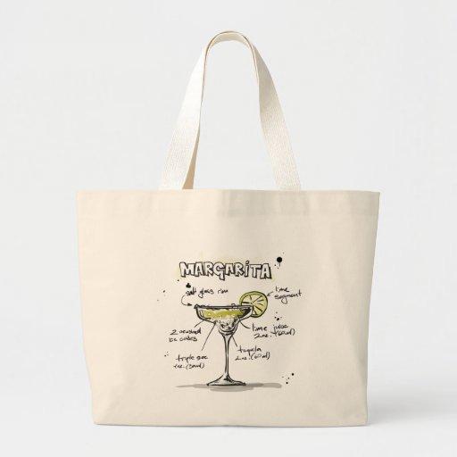 Margarita Drink Recipe Design Bag