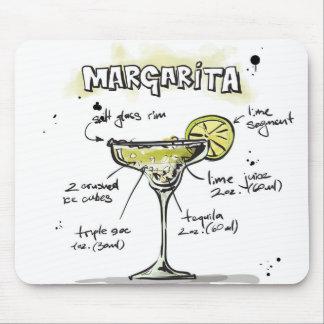 Margarita Drink Recipe Design Mouse Pad