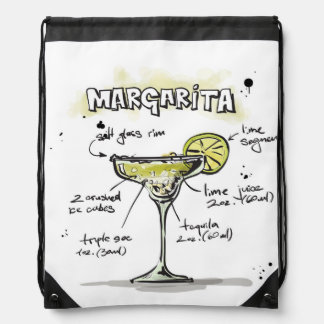 Margarita Drink Recipe Design Cinch Bags
