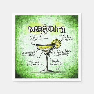 Margarita Drink Recipe Disposable Serviette