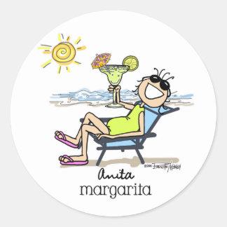 Margarita Girl Classic Round Sticker