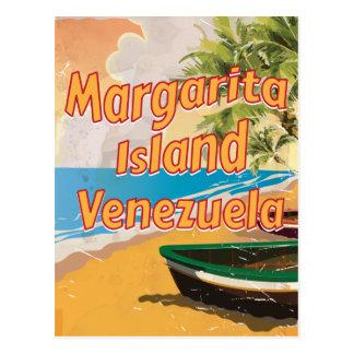 Margarita Island Vintage travel poster print Postcard