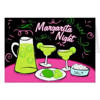Margarita Night Card