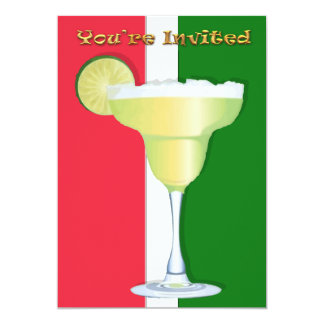 Margarita on Mexican Colors You're Invited 13 Cm X 18 Cm Invitation Card