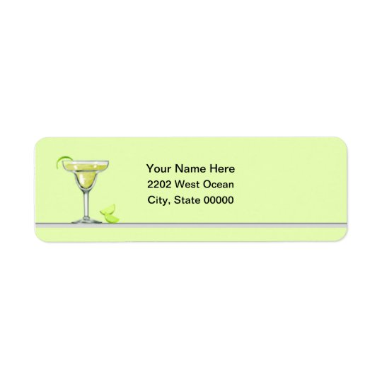 Margarita Party Return Address Label